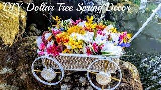 DIY Dollar Tree Floral Wagon Decor - Great Outdoor Porch Decor