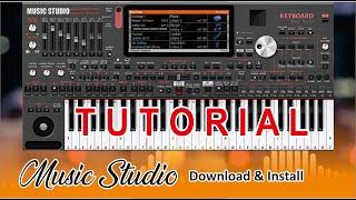 PART 2 - CARA DOWNLOAD & INSTALL APK MUSIC STUDIO ORG 2021 - BELAJAR ORGEN PC - STYLE GRATIS