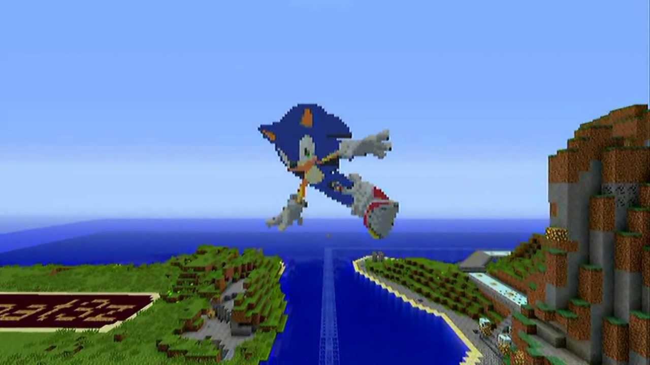 Minecraft Pixel Art Pt 1 Sonic The Hedgehog Youtube