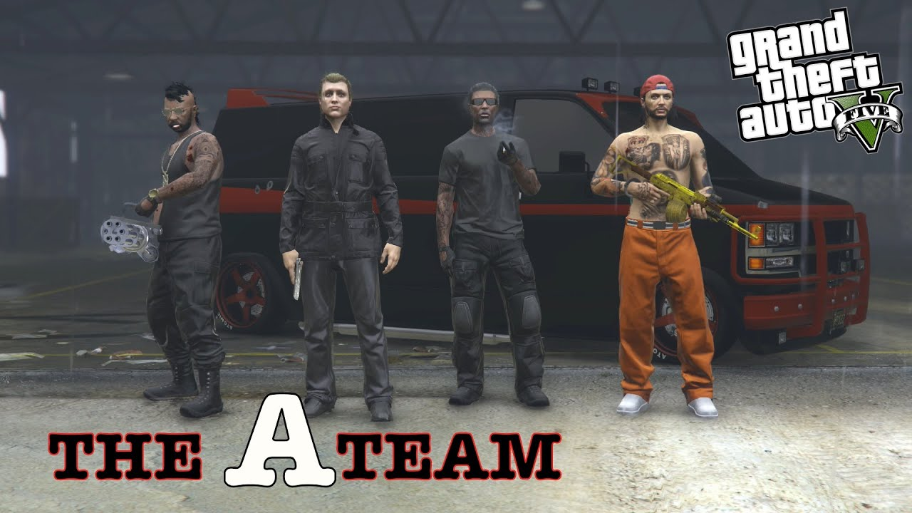 THE A TEAM GTA 5 ONLINE GAMEPLAY CINEMATICA