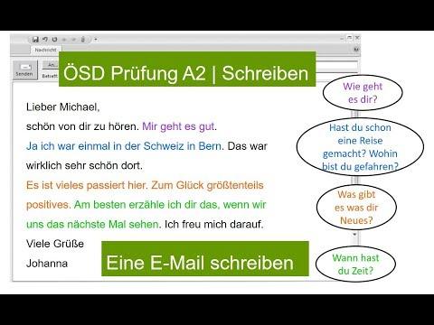 ÖSD Schreiben A2 | How To Write Eine E-Mail ÖSD Writing EXAM