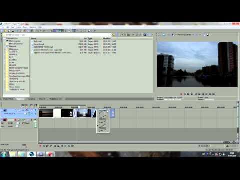 Монтаж,обработка,редактирование таймлапс фрагментов в программе Сони Вегас