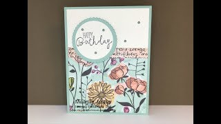 Fast Easy Birthday Card Using Scrapbook Paper