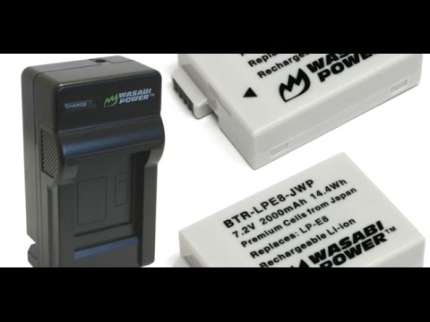 Wasabi Power Batteries And Charger For Canon LP-E8 (T5i, T3i, T2i, Etc)