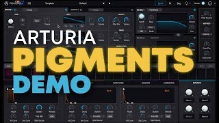 Arturia Pigments wavetable synth demo & sounds