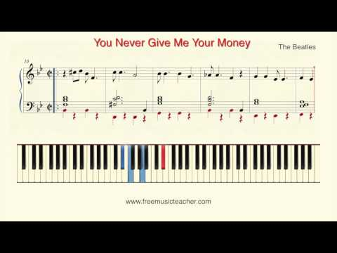 Can you give me your money piano tutorial