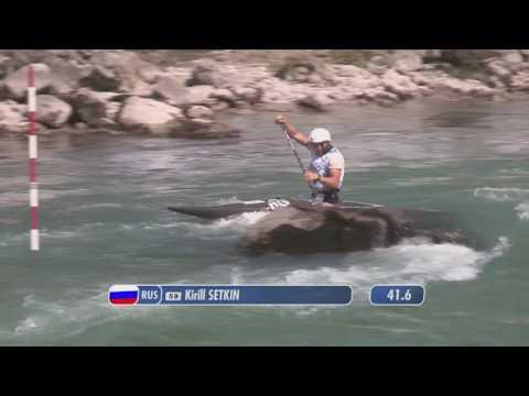 Kirill Setkin (RUS) - C1M semifinal - 2016 ECA Canoe Slalom Junior\u0026U23 European Championships