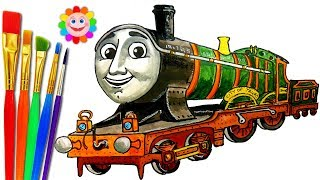 How to DRAW Train Thomas and Friends. Toy TRAINS Video for KIDS CITY OF TRURO