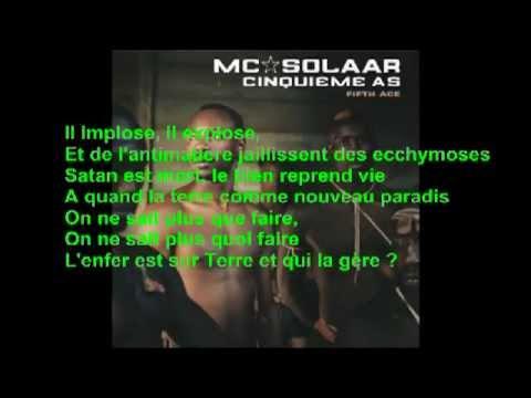 MC Solaar - solaar pleure + paroles...