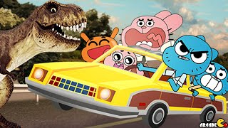 The Amazing World Of Gumball: Wheels Of Rage FULL MISSIONS COMPLETED!