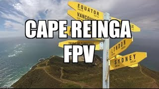 FPV flight over Cape Reinga, the northern most tip of New Zealand w...