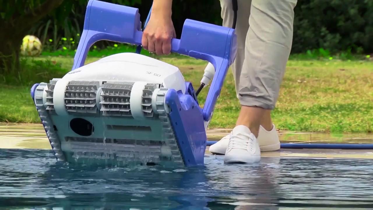 Robot de piscine dolphin sf40 youtube for Aspirateur piscine youtube