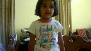 "Three year old Shree singing ""Mune Ekli Jaanine"""