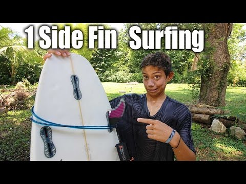 Only 1 Side Fin Surfing