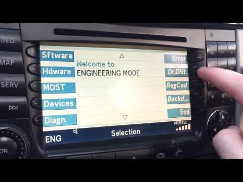 Mercedes E class w211 command unlock video in motion