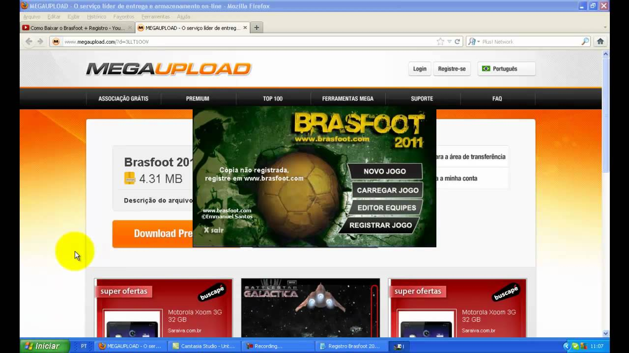 brasfoot 2011 com todas as ligas e registrado