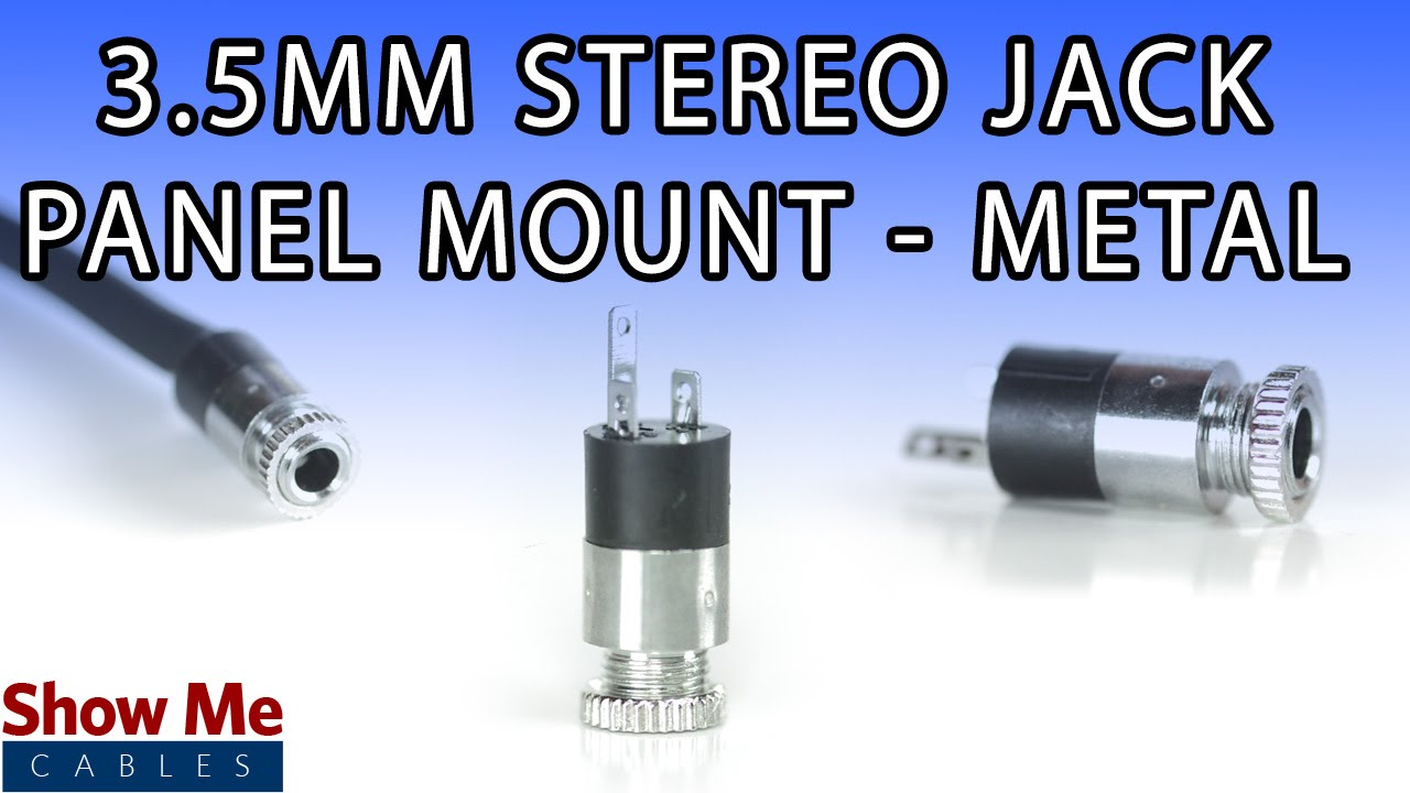 3 5mm metal panel mount stereo connector diy project to repair your audio cable 443 youtube [ 1280 x 720 Pixel ]