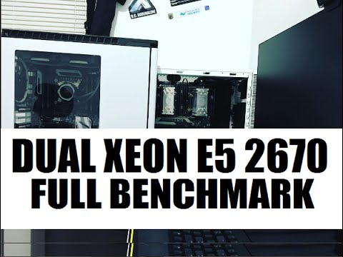 Dual Xeon E5 2670 16 Core 32 Threads Full Benchmark Vs i7 5960X i7 6700K  AMD FX 8350