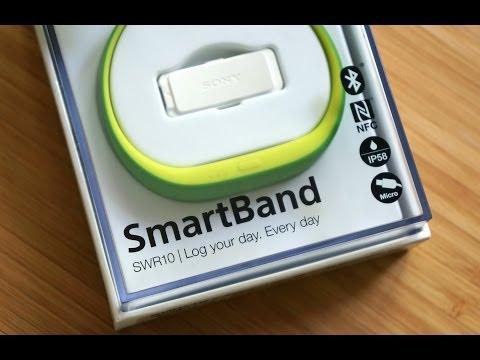Распаковка Sony SmartBand FIFA Edition SWR10 и первая настройка