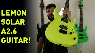 This Guitar Is A Lemon... In A Good Way! Solar Guitars A2.6 Unboxing & First Impressions