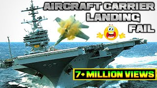Aircraft Carrier Landing Accidents, fails, landing gear failure,fighter jet accidents