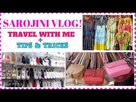 SAROJINI NAGAR VLOG : Travel with Me + Tips & Tricks I Indian Thrift Shopping I Simi Bella