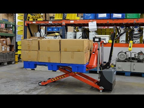 Semi-Electric Scissor Lift Pallet Truck (aka