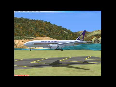 FSX-777 Singapore airlines WHAT KIND of landing is that???