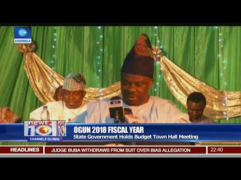 2018 Fiscal Year: Gov. Amosun Gives Citizens Picture Of Brighter Future