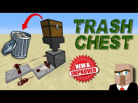 REDSTONE TRASH CHEST v2.0 - A Better Way to Dispose of Your Minecraft Garbage!
