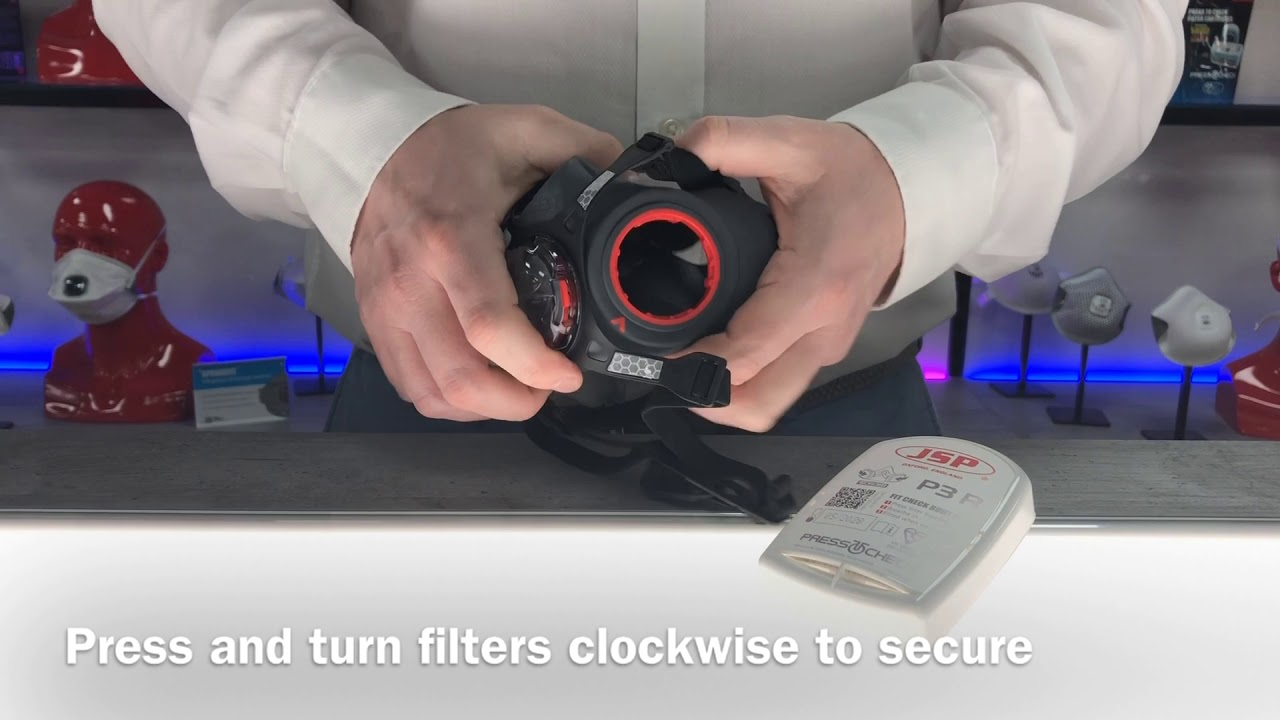 How to fit filters to your Force™8 PressToCheck™ Half Mask