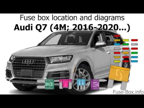 Fuse box location and diagrams: Audi Q7 (2016-2020..) - YouTube | Audi Q7 Rear Fuse Box |  | YouTube