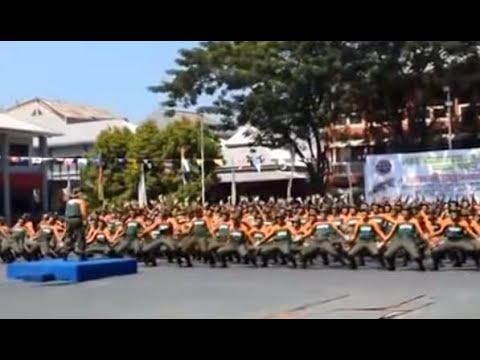 Asyik banget Goyang Gemu Famire Maumere & Yel Yel Calon Taruna Politeknik Ilmu Pelayaran Makassar