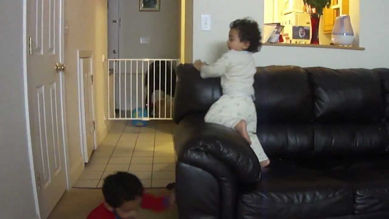 Two Little Monkeys Jumping On The Couch YouTube