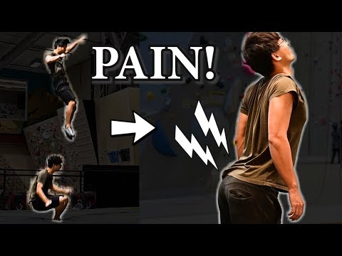 Lower Back Pain from Falling in Climbing - Treatment and Prevention