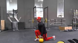 Kettlebell Dead Walk, Lunges, and RDL Superset