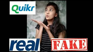 Quikr Jobs Real or Fake?/ Quikr Problem solved screenshot 1