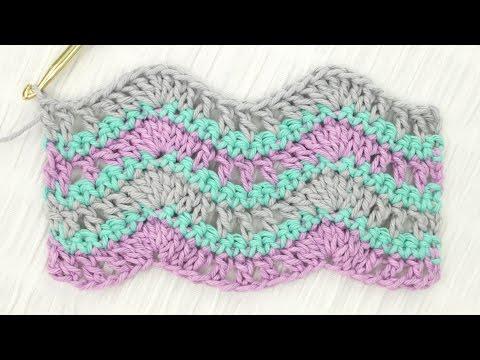 Simple Wave Stitch Crochet Tutorial