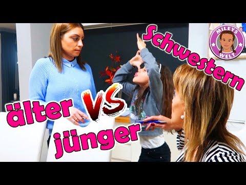 ÄLTERE SCHWESTER VS. JÜNGERE SCHWESTER - Geschwister Kämpfe | Mileys Welt