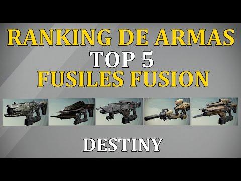 Destiny TOP 5 FUSILES DE FUSION | MEJORES ARMAS DEL JUEGO | COMENTA TU TOP 5