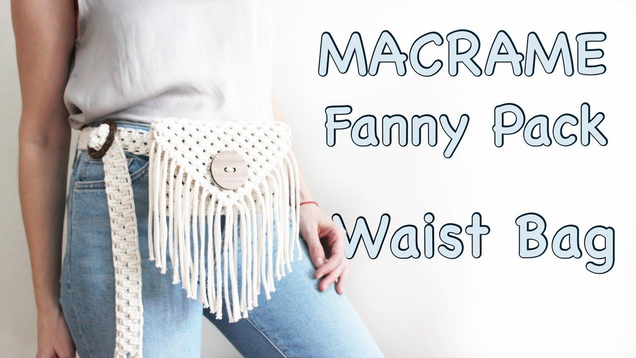 Adjustable Macrame Fanny Pack