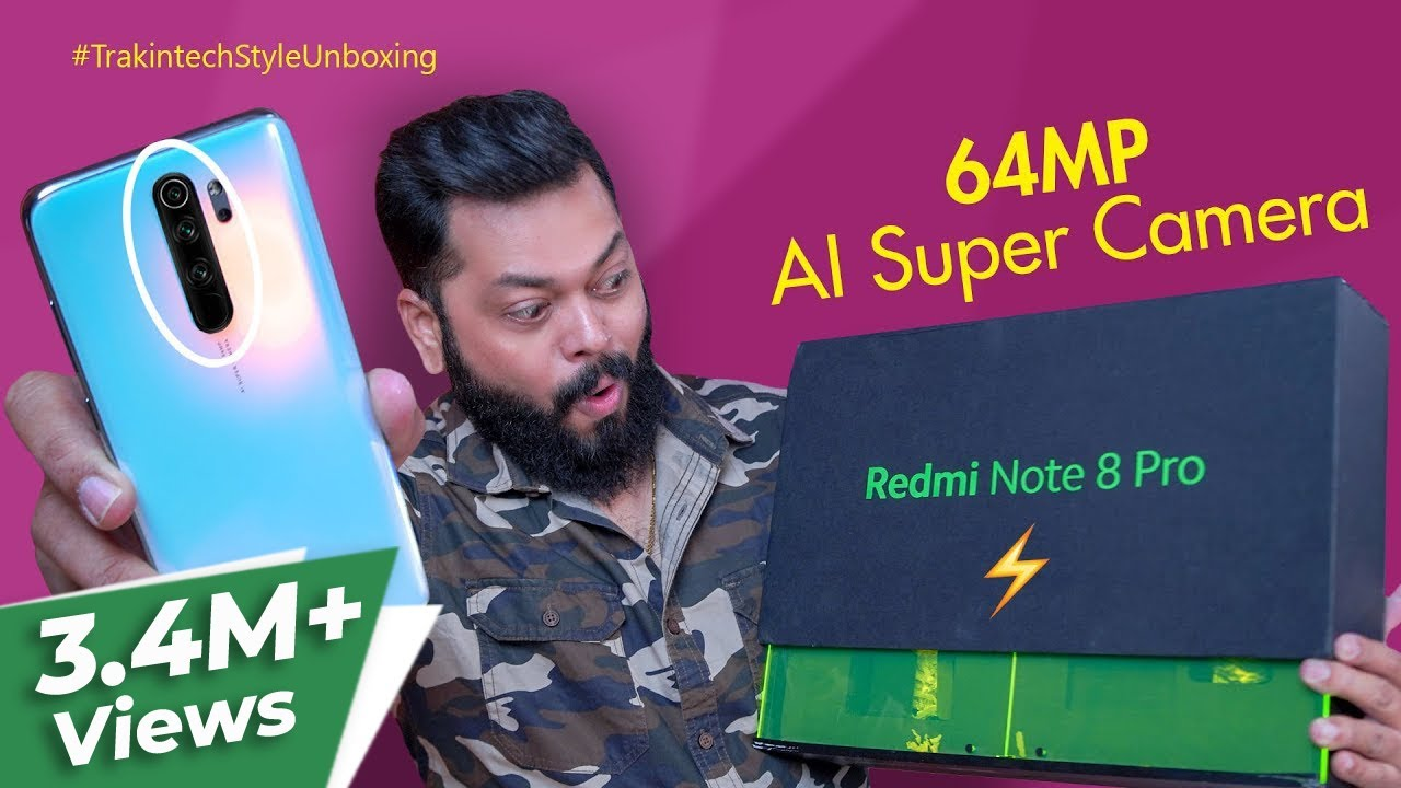 Redmi Note 8 Pro Unboxing & First Impressions ⚡⚡⚡ Flagship Performance In Mid-Range!!
