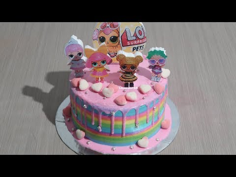 Lol Surprise Dolls Pet Cara Membuat Kue Ulang Tahun Lol Surprise Cake Tart Potong Kue Ultah Youtube