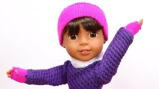 DIY American Girl Doll Gloves & Headband for WellieWishers