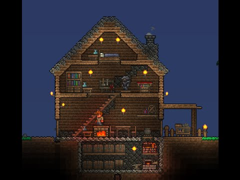How to build cozy starter home in terraria 1 3 youtube for Where to start when building a house
