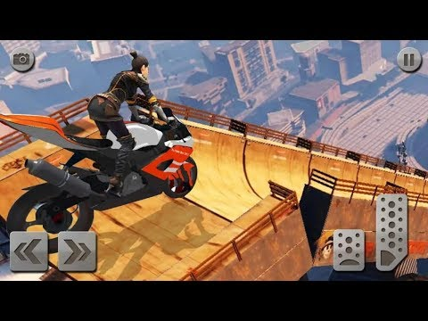 Impossible Mega Ramp Moto Bike Rider Superhero 3d Games - Android Gameplay HD #BikeGames #Superhero