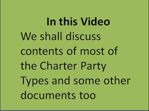Charter Party Contents - Part-01