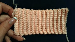 Как связать  резинку крючком. How to crochet elastic
