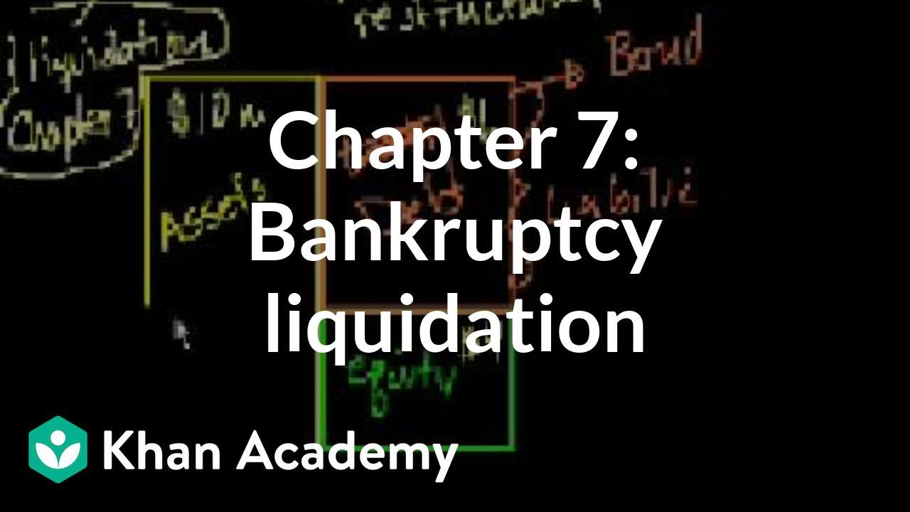 Chapter 7: Bankruptcy liquidation | Stocks and bonds | Finance & Capital Markets | Khan Academy ...