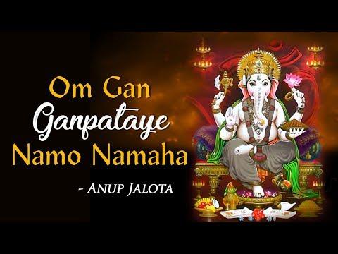 Om Gan Ganpataye Namo Namaha - 108 times by Anup Jalota | Popular Ganesh Mantra